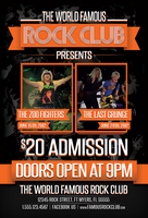 Rock Club Music Venue Band Flyer Design by xstortionist