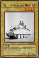 British Crusader tank card by Mexicano27