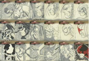 Marvel sketch cards I by scribblebri