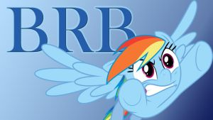 MLP BRB Wallpaper With Rainbow-Dash by Templarhappy