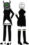 Emerald and Almira: Clothes Swap by The-Grey-Boo