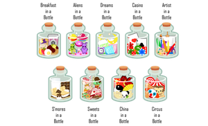 In a Bottle Designs II by MidniteHearts