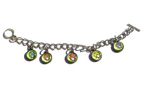 Hand Drawn Colored Mushrooms Bracelet by PinkChocolate14