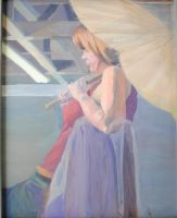 Figure with parasol by KerrithJohnson