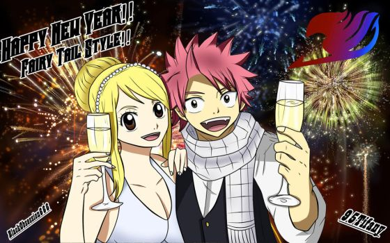 NaLu Happy New Year!!^^ by BlackObsession666