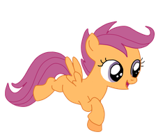 Flying Scootaloo vector by NataliStudios