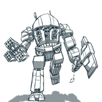Sketch: Imp 'Pimp' BattleMech by prdarkfox