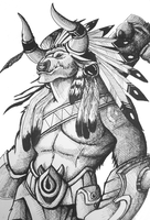 Baine Bloodhoof by Niahawk