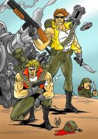 Marco and Tarma from Metal Slug by violencejack666