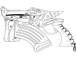 Gears of war Gorgon Pistol by DNBenallick