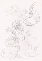 Underwater Friends and Foes by Squidbiscuit