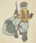 Sly Cooper Taurs #2 - Tennessee Kid Cooper by dragonheart07