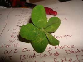 Five-leaf clover by RegitIcefeather