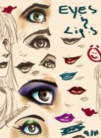 Eyes and Lips by oasiswinds