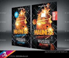 March Madness Basketball Flyer Template by AnotherBcreation