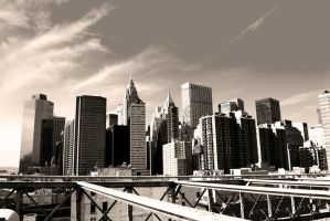 Manhattan Skyline by Demyan