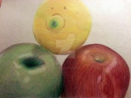 Still Life Drawing (Fruits) by JIMENOPOLIX