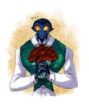 Francoeur with flowers by Bonka-chan