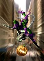 The Green Goblin Strikes by HarryBuddhaPalm