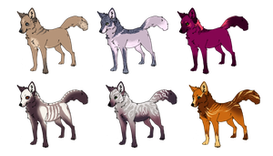 Adoptable - foxes by birdkisses