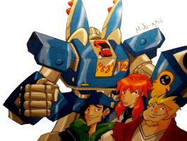 Megas XLR and crew by MikeES