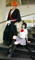 Ichigo and Rukia cosplay Bleach by JhonkunAGM