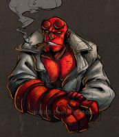 Hello Hellboy by Caillo