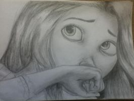 Rapunzel cries - finished. by LittleStephy