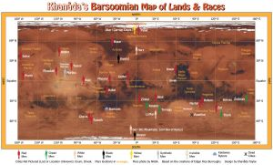 Barsoomian Map of Lands and Races by khamarupa