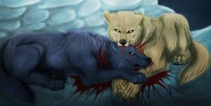 blue and hige The last moment by Mordlysten