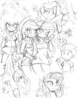 Pony Sketch Dump 5 by DANMAKUMAN