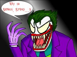 Symbiote Joker by Dragon-Wing-Z