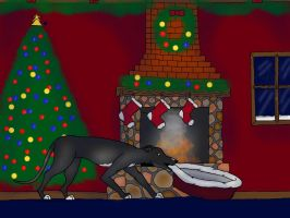 Waiting on Christmas by Lonewolf23pro