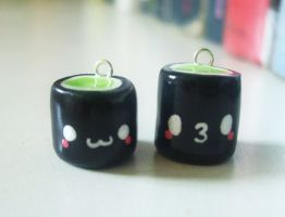 Cucumber Sushi Roll Charms by Number1FMAfangirl