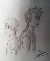 Brothers/Silus and Mikael (OC's) by Rhythmspinning
