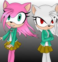 Amy Rose as Moka by Qulli2