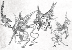 Creature concepts 2 by Zaefyra