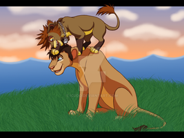 Morning's light, Lion king Commission by ICUDO