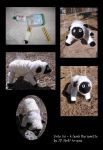 Unto Us - a lamb marionette by Bystillwaters
