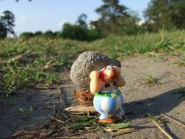 obelix walking home by Cab-GdL