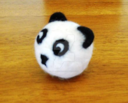 Felted Panda Juggling Ball by Pos-Sess-ed