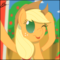 Selfphoto - Applejack by thedeseasedcow