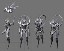 3D valkyrie WIP 4 by Seig-Verdelet