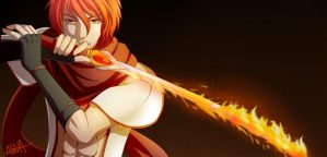 Birthday 2012 - Flame Sword by AquaWaters