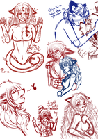 .C-D Sketchdumppppp. by Melodious-X