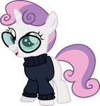 Nerdy Sweetie Belle by Magister39