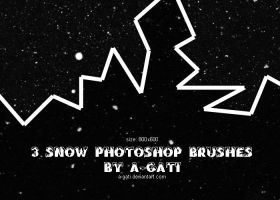 3 snow photoshop brushes by A-Gati