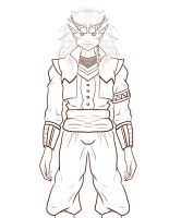 Dungeons and Dragons Character Ref- Lineart 2 by Aqua-Drannix