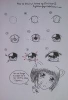 How to draw an anime eye C by 33starrynight33