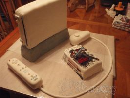 Wii Cake by epicsugarworks